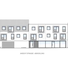 Planen - Stadthaus - Ansicht Abwicklung, Pfaffenhofen