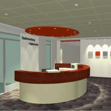 Realisieren - Innenraumplanung Foyer Stadtverwaltung-Theke, Pfaffenhofen